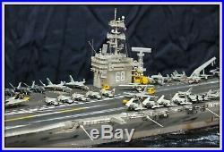 1/700 USS Nimitz aircraft carrier built diorama. Model by Alexander Blokhin