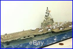 1500 Scale Built Plastic Model Ship Aircraft Carrier CV16 USS Lexington