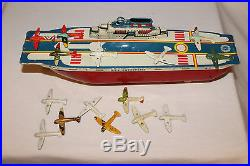 1940's Wyandotte Aircraft Carrier with Airplanes, Nice with Original Box