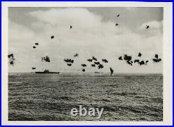 1942 WWII Battle of Midway USS Yorktown Aircraft carrier Type 1 Original Photo