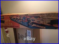 1963 REMCO MIGHTY MATILDA Giant Motorized Aircraft Carrier with box