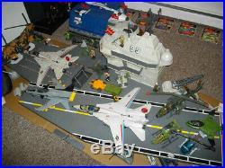 1985 G. I. JOE USS FLAGG AIRCRAFT CARRIER 99% Complete! Original Super Rare