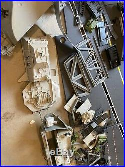 1985 GI JOE USS FLAGG AIRCRAFT CARRIER Vintage Original Hasbro Not Complete