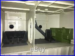 1985 GI Joe USS Flagg Aircraft Carrier with Keel Haul, working mic, 90+%