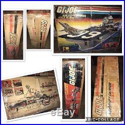 1985 GIJOE USS FLAGG AIRCRAFT CARRIER 100% Complete Original Rare White Variant