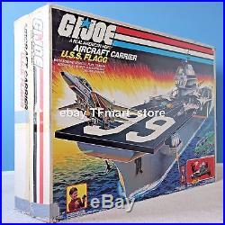 1985 Vintage GI Joe USS Flagg Aircraft Carrier Keel Haul Playset Complete with Box
