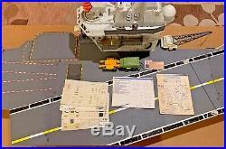 1985 Vintage GI Joe USS Flagg Aircraft Carrier withKeel Haul v1 NICE! ARAH