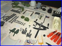 1985 Vintage GIJOE COBRA USS FLAGG Aircraft Carrier 100% Complete Parts Lot