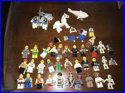 30 lbs Vintage Lego Sets 40 Minifigs Castle & Outpost Space Aircraft Carrier