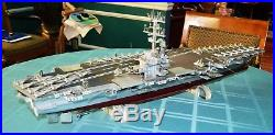 35 Museum Quality wood and metal aircraft carrier model