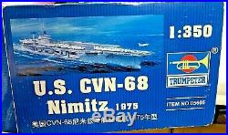 3ft AIRCRAFT CARRIER Model US CVN-68 Nimitz 1975 1350 Kit by Trumpeter NEW
