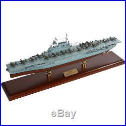 Aircraft Carrier USS Hornet CV-8 Built 29 Wooden Desktop Model Assembled