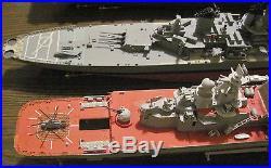 BUILT WWII BattleShip AIRCRAFT Carrier Lot 5 Model 1/350 Bar Decor RARE RUSSIAN