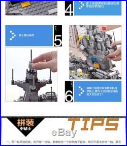 Banbao Aircraft Carrier Toy Building Set, 2580-Piece brick Sets Lego compatible