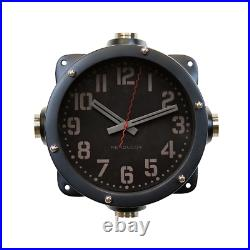 Black Painted Reproduction of a Naval Aircraft Carrier Master Wall Clock