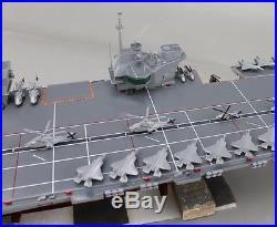 British HMS Queen Elizabeth aircraft carrier display wood custom model ship