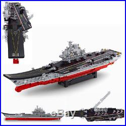 Building Blocks Toy Army Navy Warship Carrier Aircraft Plane Helicopter War Ship