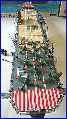 Built 1/350 WW2 IJN Aircraft Carrier HIRYU 1942 Battle of Midway FUJIMI