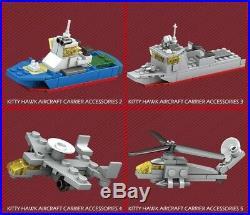 Custom Kittyhawk CV-63 Warship Aircraft Carrier Battleship LEGO Compatible