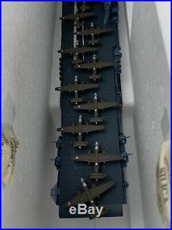 Danbury Mint Uss Hornet Cv8 Navy Aircraft Carrier 1500 Scale Model In Box Wow