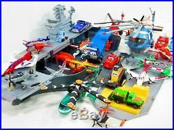 Disney Planes Cars Lot Aircraft Carrier Diecast Plastic USS Flysenhower Playset