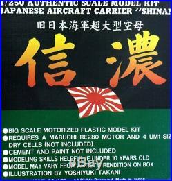 Doyusha 1/250 Aircraft Carrier SHINANO, Motorized, no box, just started