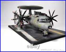 E-2C Hawkeye + Aircraft carrier Deck set on 148 built and painted