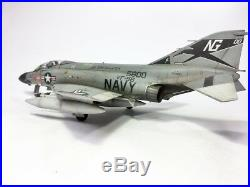 F-4J Phantom II + Aircraft carrier Deck set on 148 built and painted