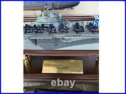 Franklin Mint 1350 USS Yorktown Aircraft Carrier CV 10 Desk Top Signed