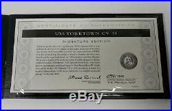 Franklin Mint Signature Edition U. S. S. Yorktown CV-10 Aircraft Carrier