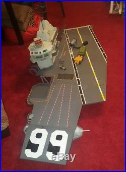 GI JOE ARAH USS FLAGG Action Figure Aircraft Carrier Playset Hasbro 1985 lot