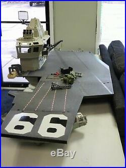 GI JOE USS FLAGG AIRCRAFT CARRIER, USED, INCOMPLETE vintage 80's