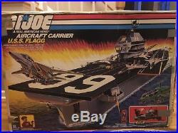 GI JOE USS FLAGG AIRCRAFT CARRIER Vintage Figure Playset 1985