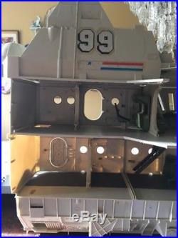 GI JOE USS FLAGG AIRCRAFT CARRIER Vintage Figure Playset 1985 Incomplete