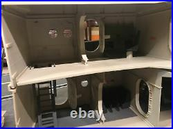 GI JOE USS FLAGG AIRCRAFT CARRIER Vintage Figure Playset 99% COMPLETE 1985