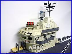 GI JOE USS FLAGG Vintage Figure + Vehicle Playset Aircraft Carrier COMPLETE 1985