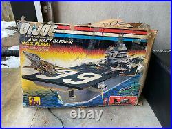 GI Joe 1985 Vintage USS Flagg Aircraft Carrier Original Box 83% Complete Rare