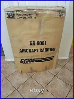 GI Joe ORIGINAL BOX for USS Flagg Aircraft carrier with original shipping box