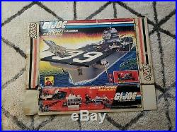 GI Joe Original Box for USS Flagg Aircraft carrier Box Only Parts Or Restore
