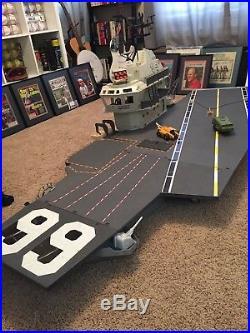 GI Joe USS Flagg Aircraft Carrier & Capt Keel Haul (near complete)