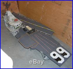 GI Joe USS Flagg Aircraft Carrier Mostly Complete 1985 Fan Deck Railing