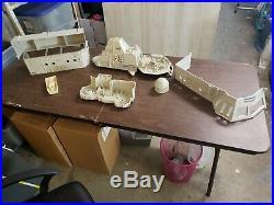 GI Joe USS Flagg Aircraft Carrier with original box see description Clean White