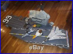 GI Joe USS Flagg aircraft carrier with bonus vehicles