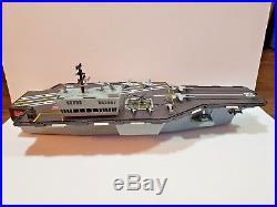 GI Joe USS Saratoga Motorized Aircraft Carrier Ship Sounds Lights & Planes 2001
