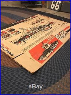 Gi Joe Uss Flagg Aircraft Carrier Box Only + Blueprint Great Condition