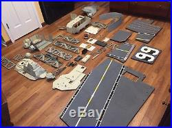 Gi Joe Uss Flagg Aircraft Carrier, Unassembled, Used, Incomplete