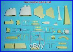 HMS Invincible Aircraft Carrier GRP model r/c capable