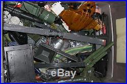 HUGE lot of GI JOE vehicles space ship aircraft carrier people instruct comics +