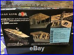 IJN Aircraft Carrier AKAGI 1/350 with the Detail Up parts! (P/E and Wooden Deck)