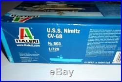 Italeri USS Nimitz CV-68 Aircraft Carrier 1/720 Scale Model Plastic Kit NEW